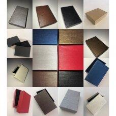 7 x 9 x 3 cm(h) Spalvota popierinė dviejų dalių dovanų dėžutė žiedams, juvelyrikai, papuošalams, bižuterijai. 11 GALIMŲ SPALVŲ!! Pakuotė 12 vnt