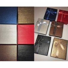 16 x 19 x 3 cm(h) Spalvota popierinė dviejų dalių dovanų dėžutė papuošalams.8 GALIMOS SPALVOS.Pakuotė 6 vnt