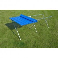 Sulankstomas stalviršis-užtiesalas lauko prekybos stalui 1m x 1m (parduodamas atskirai)