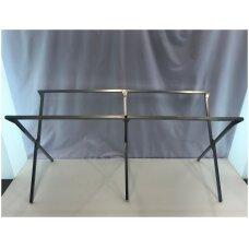 Metalinis rėmas-kojos lauko prekybos stalui 2,5 m x 1m.(parduodamas atskirai)