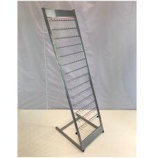 Metalinis surenkamas stovas papuošalų,bižuterijos,galanterijos prekių eksponavimui, sidabro spalva