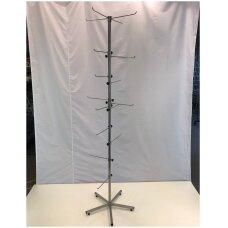 Metalinis sukamas 14-RAN  stovas rankinėms kuprinėms galanterijai, sidabro spalva