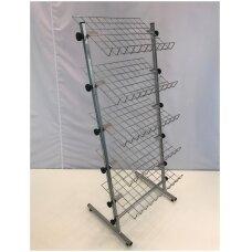 Universalus metalinis surenkamas  5 lentynų stovas 23-BAT-5L-P galanterijai, batams, avalynei, kitoms prekėms
