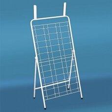 Metalinis pastatomas 36 elementų 75-AKI-P stovas akiniams, sidabro spalva - Užsakoma prekė.