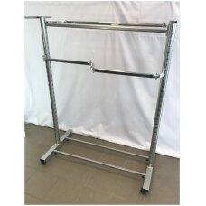 Kabykla drabužiams su ratais,Modelis 97-H120, aukštis 120 cm, ilgis 128cm, sidabro spalva - Užsakoma prekė.