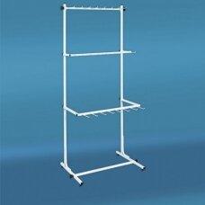 Metalinis surenkamas 3 aukštų 66-DIR-L72 stovas diržams, sidabrinis. Prekė-užsakoma.