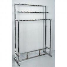 Metalinis surenkamas 3 aukštų DIR-CH stovas diržams, chromuotas.