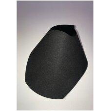 Lankstus kaklo papuošalų stovas KAK-LAN-J-V, juodas aksomas.