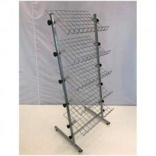 Universalus, metalinis, surenkamas, 5 lentynų stovas galanterijai, batams, avalynei, kitoms prekėms