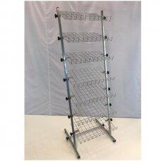 Universalus, metalinis, surenkamas, 7 lentynų stovas galanterijai, batams, avalynei, kitoms prekėms