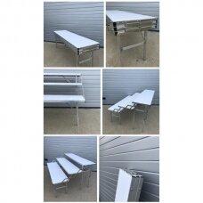 Universalus stovas-lentyna-transformeris, SUR-MET,(3 lygių,surenkamas,metalinis,ilgis 1,5m).-UŽSAKOMA PREKE.