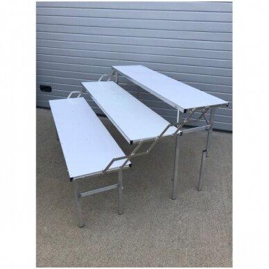 Universalus stovas-lentyna-transformeris, SUR-MET,(3 lygių,surenkamas,metalinis,ilgis 1,5m).-UŽSAKOMA PREKE. 7