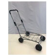 Sulankstomas metalinis vežimėlis VEZ-PLT su platforma - prekėms ar kroviniams vežti.